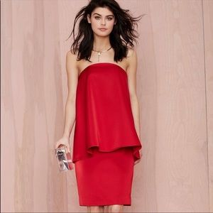 NEW Cameo The Ascent Dress Strapless Scarlet Dress